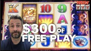 $300 in FREE PLAY in BUFFALO EXTREME • SLOT MACHINE WINS!