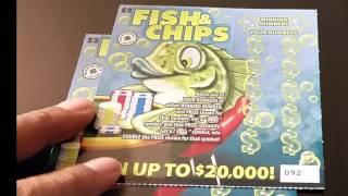 FISH & CHIPS  Washington state lottery scratch cards