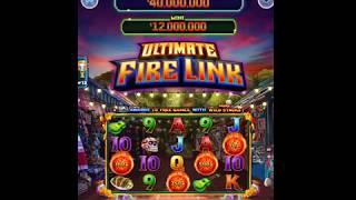 """ULTIMATE FIRE LINK Video Slot Casino Game with an """"EPIC WIN"""" FREE LINK BONUS"""