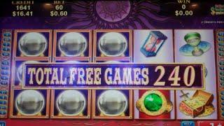 Gypsy Eyes Slot Machine Bonus + Retriggers - 352 FREE SPINS - MEGA BIG WIN (#3)