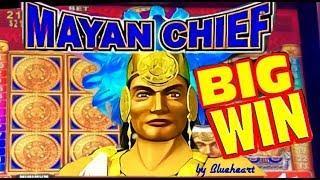 MAYAN CHIEF slot machine MAX BET BONUS BIG WIN!!!
