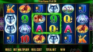 Aristocrat Wolf Moon Video Slot Free Spins Bonus