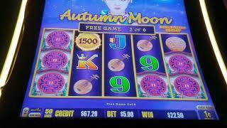 Max Bet Dragon Link Autumn Moon Bonuses *Nice Wins*