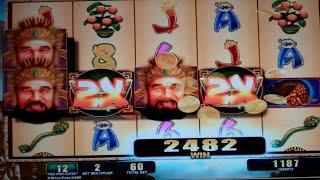 Fortune Ruler Slot Machine Bonus + Retrigger - 13 Free Games with Wild Multipliers - Nice Win