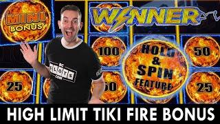 First Spin HIGH LIMIT Lightning Link BONUS ⋆ Slots ⋆ Tiki Fire