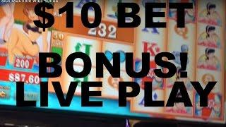 LIVE PLAY on Dean Martins Pool Party Slot Machine with Bonus
