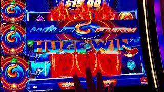 •WILD FURY JACKPOTS• Slot machine Bonus, Features and Line Hits! LIVE PLAY! By IGT!
