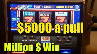 $5000 a pull High limit slot machine Aria Las vegas Mega win 1.75 Million
