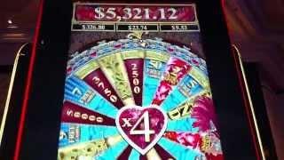 Aristocrat Can Can De Paris HUGE Win Max Bet Free Spin bonus  Retrigger
