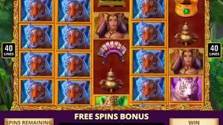 TIGER TEMPTRESS Video Slot Casino Game with a TIGER TALE FREE SPIN BONUS
