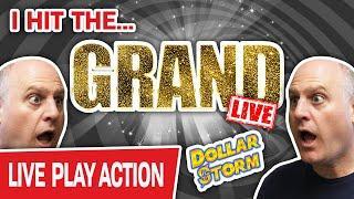 ★ Slots ★ I Just Hit THE GRAND LIVE!!! ★ Slots ★ Dollar Storm Slots Jackpot INSANITY!