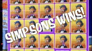 LOTS OF SIMPSONS WINS! • WILD FURY • MEGA VAULT • 12 FUN SLOT MACHINE BONUSES