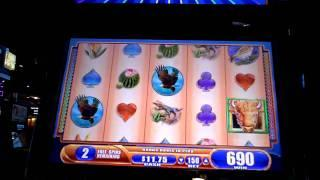 Buffalo Spirit Bonus Win on slot machine @ Sugarhouse Casino