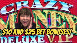 I'M CRAZY FOR BONUSES WITH $12.50 & $25 BETS-CRAZY MONEY VIP
