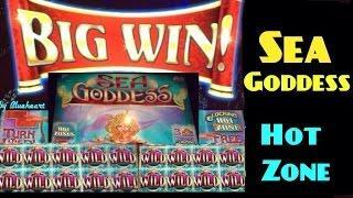 SEA GODDESS slot machine max bet bonus BIG WIN!