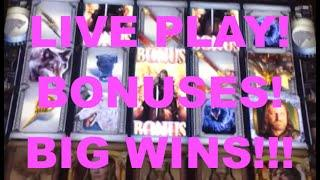 BIG WINS!!! Lots of Bonuses and LIVE PLAY on Game of Thrones Slot Machine