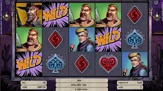 Wild Wild West - The Great Train Heist slots - 410 win!