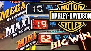 HARLEY DAVIDSON slot machine LIVE PLAY BONUS WINS!