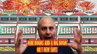 • Mini Booms and a Big Boom on 5 New Slot Machines •