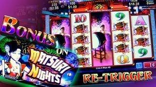 Matsuri Nights Bonus + Retrigger on 1c Konami Slots