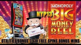 ☆NEW DELIVERY☆ WMS - Monopoly: Big Money Reel Slot Bonuses BIG WIN!