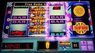 Wheel of Fortune Double Diamond 3D - GREAT SESSION - All Features!