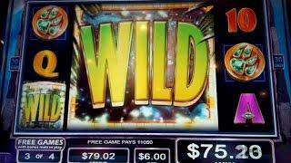 Temple of the Tiger Slot Machine $6 Max Bet *LIVE PLAY* Big Win Bonus!