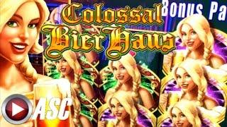 •BIG WIN! STICKY REEL!• COLOSSAL BIER HAUS | Slot Machine Bonus