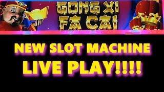 NEW SLOT!!! - Gong Xi Fa Cai Slot - LIVE PLAY + BONUS! - Slot Machine Bonus