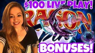 •DRAGON SPIN• $100 PLAY WITH BONUSES & PROGRESSIVE FEATURES!•