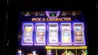 Monopoly Jackpot Station slot bonus win at Golden Nugget Casino.