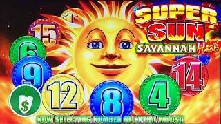•  Super Sun Savannah Heat slot machine, bonus