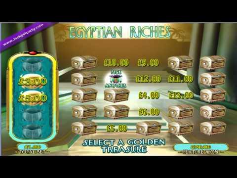 £159 SUPER BIG WIN (159 X STAKE) EGYPTIAN RICHES ™ SLOT GAME AT JACKPOT PARTY®