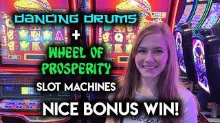 $8.80/SPIN! Dancing Drums and Wheel of Prosperity Phoenix Slot Machine! BONUS WIN!!