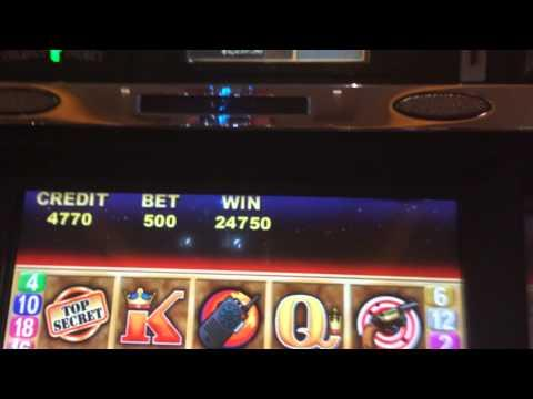 Double Agent HANDPAY JACKPOT old school slot machine $25 BET