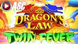 DRAGON'S LAW TWIN FEVER | NICE FUN WINS!! Live Play w/ DKD SLOTS! | Slot Machine Bonus (Konami)