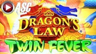 DRAGON'S LAW TWIN FEVER | NICE FUN WINS!! Live Play w/ DKD SLOTS! | Slot Machine Bonus (Konami)