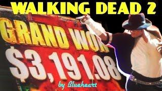 • GRAND JACKPOT SIGHTING• The WALKING DEAD 2 slot machine BIG BONUS WINS!