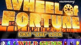 "MAX - Wheel of Fortune - Wild Gems - LIVE PLAY! - First ""LIVE"" Look - Slot Machine Bonus"