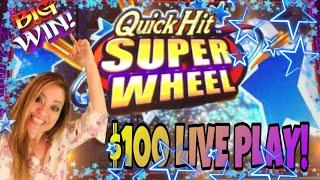 •️QUICK HIT SUPER WHEEL•️• & KONAMI STAR WATCH FIRE•️• FUN WINS!
