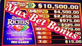 •RAINBOW RICHES SLOT MACHINE• MAX BET BONUSES, LIVE PLAY, LAS VEGAS SLOTS!!