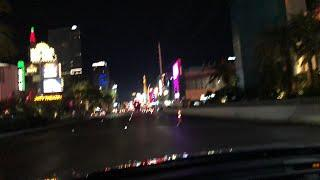 Driving on the Vegas Strip and LIVE SLOT MACHINE PLAY