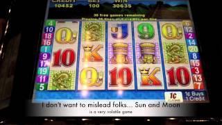 Aristocrat - Sun and Moon Slot Machine Bonus - 50 Free Spins