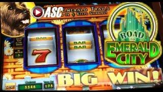 *NEW OZ* ROAD TO EMERALD CITY | Glinda&Toto | WMS - Big Win! Wizard of Oz Slot Machine Bonus