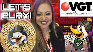 VGT SUPER HITS JACKPOTS LIVE PLAY PART 2•CRAZY CHERRY*KING OF COIN*LUCKY DUCKY•