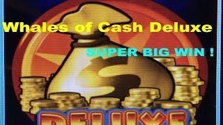 •SUPER BIG WIN•Whales of Cash Deluxe Slot machine (Aristocrat)•Live play & Deluxe Bonus $2.40 Bet•彡