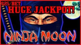 HIGH LIMIT Dollar Storm Ninja Moon HANDPAY JACKPOT ⋆ Slots ⋆️$25 Bonus Round Slot Machine Casino