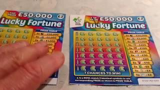 Scratchcards..PHARAOH'S Fortune...FULL of 500's... Lucky Fortune..etc