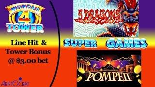 Aristocrat - Wonder 4 Towers : Pompeii & 5 Dragons