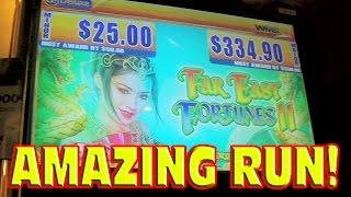 Far East Fortunes II BIG WIN + PROGRESSIVE + MAX BET BONUS Amazing Slot Machine Run